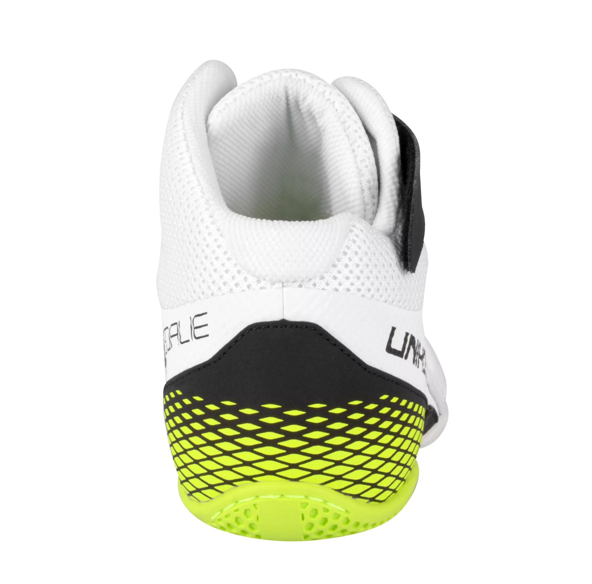 519aa2da54e Unihoc U4 Goalie white neon yellow Brankářská sálová obuv