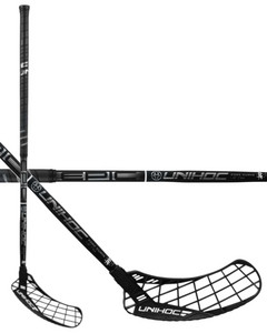 Unihoc EPIC EDGE Curve 1.0º 26 black/chrome Floorball Schläger