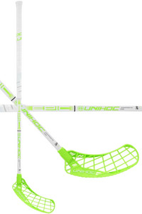 Unihoc EPIC Composite 29 white/light green Floorball Schläger