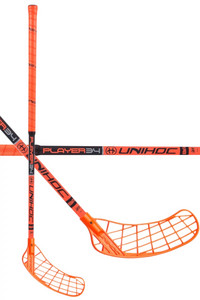 Unihoc PLAYER 34 neon orange/black Floorball Schläger