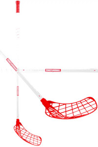 Zone floorball HYPER AIR SL 27 white/red (D+) Florbalová hokejka