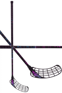 Zone floorball ZUPER AIRLIGHT 27 black/rainbow Florbalová hokejka