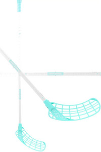 Zone floorball ZUPER AIR Superlight 29 white/turquoise Florbalová hokejka