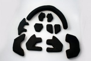 Zone floorball Middle-end mask replacement padding set