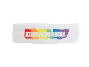 Zone floorball PRIDE white/rainbow Čelenka