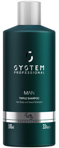 System Professional Man Triple Shampoo 500ml