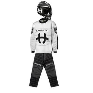 Unihoc SHIELD set with HELMET 140 cm, černá / bílá