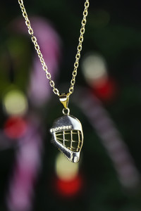 FLOORBEE Peaked Goalie Cap Gold Floorball pendant