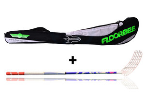 LEXX Timber 2,6 Navy + Stickbag Floorball stick and stickbag - set