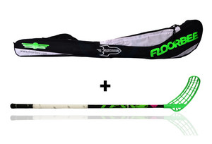 LEXX Lupa 2,6 Black + Stickbag Floorball stick and stickbag - set