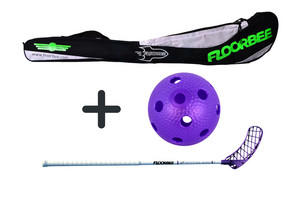 FLOORBEE SpitFire PRO 29 + Stickbag + ball Set floorball stick with bag and ball