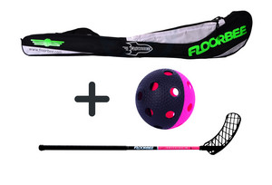 FLOORBEE SpitFire 29 + Stickbag + ball Set floorball stick with bag and ball
