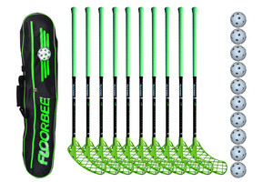 FLOORBEE Albatross 36 + Toolbag + Balls Floorball set
