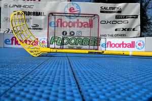 Zone floorball Maker AIR UL 27 FRIENDS (HELLO) Limited Edition žlutá, Levá (levá ruka dole), 100cm (=110cm)