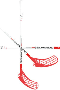 Unihoc EPIC YOUNGSTER Composite 36 white/red Floorball stick