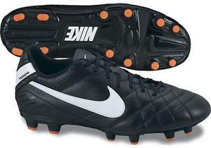 Nike TIEMPO NATURAL IV FG 018 - černá/bílá UK 10,5 | EU 45,5 | 29,5cm