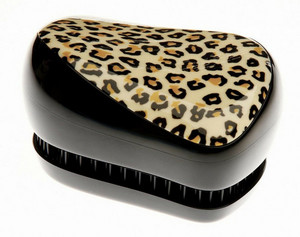 Leopardí kompaktní kartáč TANGLE TEEZER Compact Styler Feline Groovy Černo-béžová