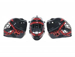 Florbalová maska MPS CE new Junior černá / červená