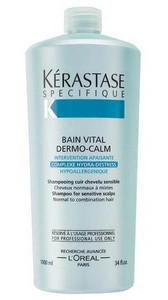 Kérastase Specifique Bain Vital Dermo-calm Shampoo for Normal to Combination Hair 1l