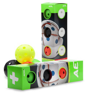 Salming Aero+ 4-pack Colour Set of balls
