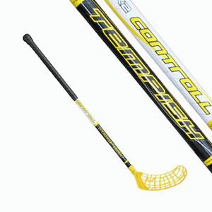 Florbalová hokejka Tempish Controll junior `16 černá / žlutá Levá (levá ruka níže) 75cm (=85cm)