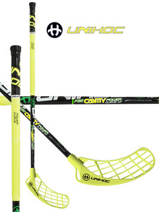 Floorball stick Unihoc CAVITY Power Curve 1.0 º 32 neon yellow `15