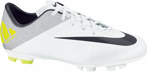 Kopačky Nike JR MERCURIAL VICTORY II FG 130 - bílá/limetková EU 33 | 20,5cm