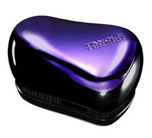 Fialový kompaktní kartáč TANGLE TEEZER COMPACT STYLER Purple Dazzle Černo-fialová