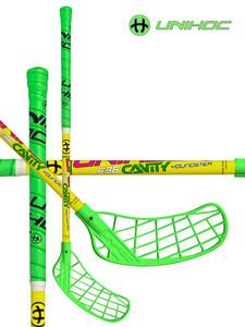 Florbalová hůl Unihoc CAVITY Youngster 36 neon green `16 neonová zelená, Levá ruka níže, 55cm