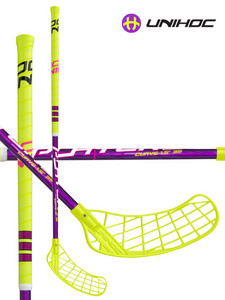 Florbalová hokejka Unihoc PLAYER3 Curve 1.5 35 neon yellow/purple `15