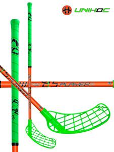 Florbalová hůl Unihoc PLAYER 32 neon green/neon orange `15 neonově zelená / neonově oranžová Levá (levá ruka níže) 87cm (=97cm)