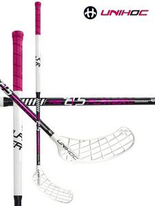 Florbalová hůl Unihoc PLAYER Curve 1.5º STL 29 cerise/white `15 bílá / černá / růžová Pravá ruka níže 92cm (=102cm)