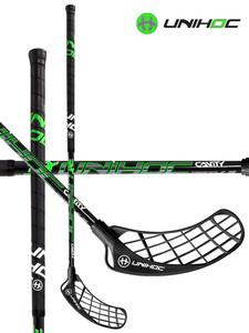 Florbalová hokejka Unihoc CAVITY Triangle 26 black `15 černá, Pravá, 96cm (=106cm)