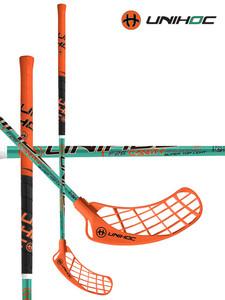 Florbalová hůl Unihoc CAVITY Curve 2.0 STL 26 green chrome `15 zelená / oranžová / černá Levá ruka níže 96cm (=106cm)