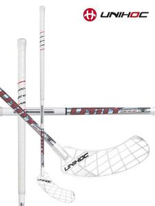 Florbalová hokejka Unihoc UNITY Curve 1.0 STL 26 white `15 bílá, Pravá ruka níže, 96cm (=106cm
