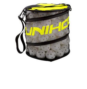 Unihoc Ballbag Flex black/neon yellow černá / neonově žlutá, 150 míčků