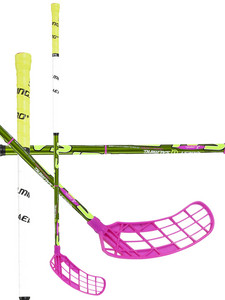 Florbalová hokejka Salming Quest1 TourLite TC 2° `15 zelená / žlutá / růžová Pravá (pravá ruka níže) 100cm (=110cm)