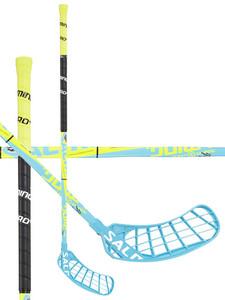 Florbalová hůl Salming Quest2 KickZone 0° `15 modrá / žlutá / černá Pravá ruka níže 100cm (=110cm)