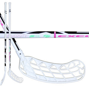 Floorball stick Exel UNIVERSITY WHITE uniflex ROUND SB `15