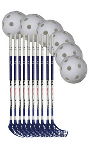 Necy Gravity Team Set 10 Floorball set (15 + age)
