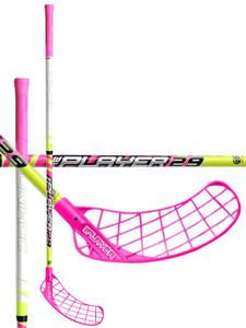Florbalová hokejka Unihoc REPLAYER 29 neon yellow/cerise `16 neonově žlutá / neonově růžová Pravá (pravá ruka níže) 100cm (=110cm)