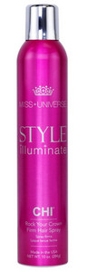 Silně tužící lak na vlasy CHI Style Illuminate Firm Hair Spray - Rock Your Crown