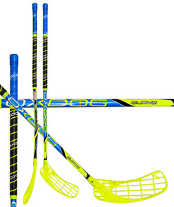 Florbalová hokejka OXDOG CURVE 30 yellow/blue NB `15 žlutá / modrá Levá (levá ruka níže) 92cm (=102cm)