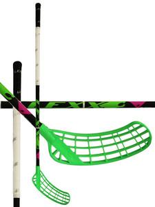 Florbalová hokejka Lexx Lupa A2 2,6 Black/Silver `15 černá / zelená / bílá Pravá (pravá ruka níže) 101cm (=111cm)