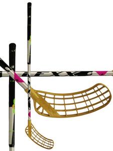 Florbalová hokejka Lexx Lupa A2 2,6 oval Silver/Black `15 stříbrná / černá Pravá (pravá ruka níže) 101cm (=111cm)