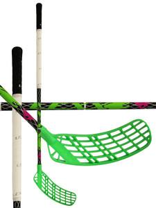 Florbalová hokejka Lexx Timber C4 2,9 Black/Silver `15 černá / zelená / bílá Levá ruka níže 92cm (=102cm)