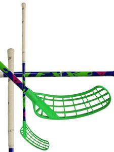 Florbalová hokejka Lexx Tundra A2 3,2 Blue/Chrome/Green `15 modrá / zelená Pravá (pravá ruka níže) 87cm (=97cm)