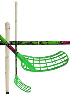Floorball stick LEXX Tundra A2 2,9 oval Black/Silver `15