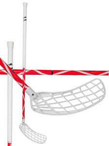 Florbalová hokejka Exel HELIX CZECH LIMITED EDITION 2.6 `15 červená / bílá Pravá ruka níže 101cm (=111cm)
