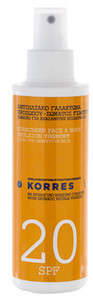 Korres Sunscreen Face & Body Emulsion Yogurt SPF20 emulze na opalování s jogurtem SPF20